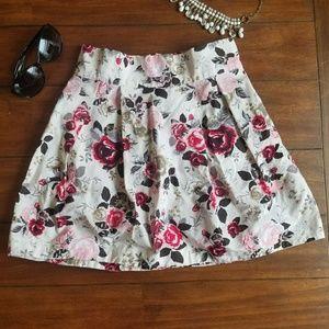 Floral High Waist Skirt